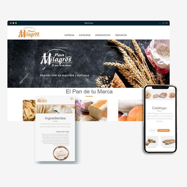 Diseño de pagina Web en Toledo. Diseño grafico. pan milagros